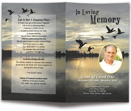 Flight Funeral Program Template