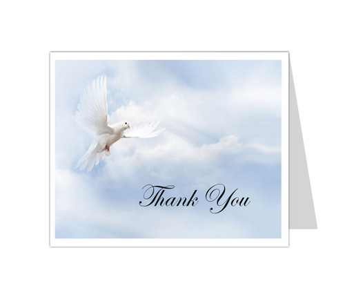 Dove of Peace Thank You Card Template
