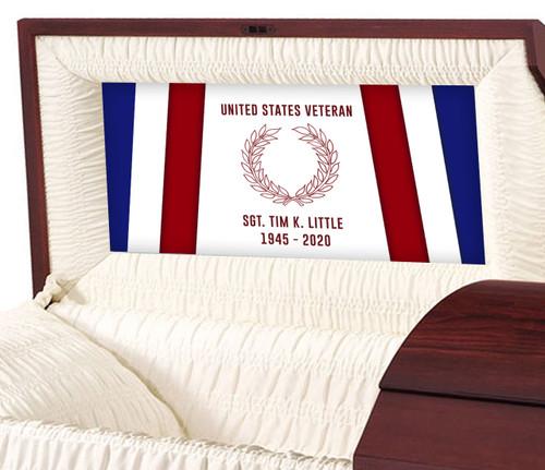U.S. Veteran Personalized Casket Panel Insert