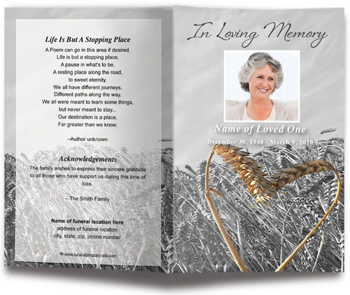 Heartland Funeral Program Template