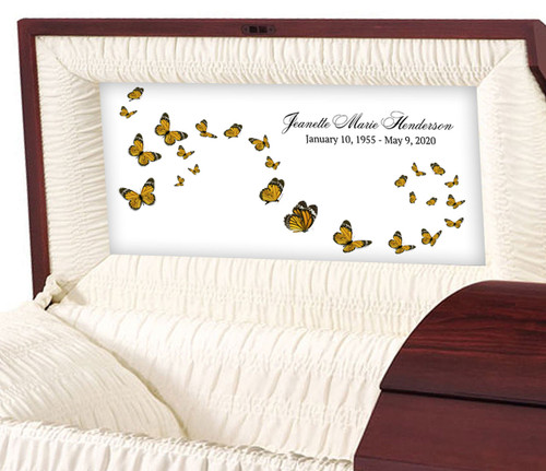 Butterflies Are Free Personalized Casket Panel Insert
