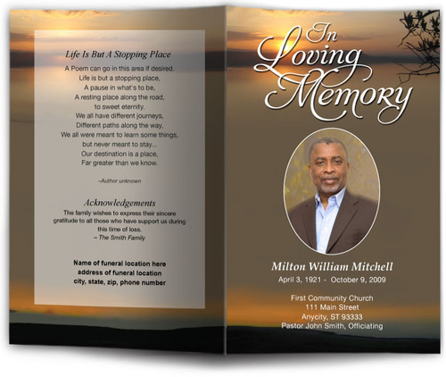 Kenya Funeral Program Template