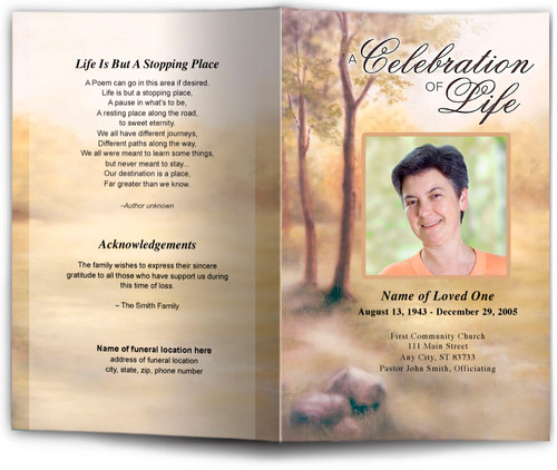 Legacy Funeral Program Template
