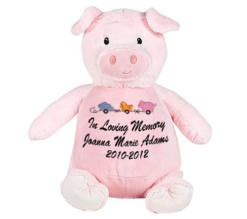 Pink Piggie Memorial Stuffed Animal/Urn