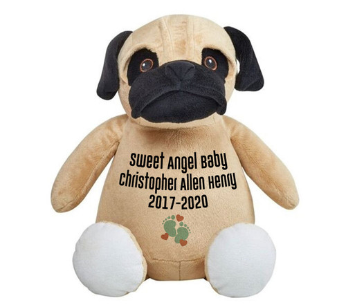 Pug Doggie Memorial Stuffed Animal/Urn