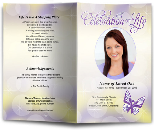 Lupus Funeral Program Template