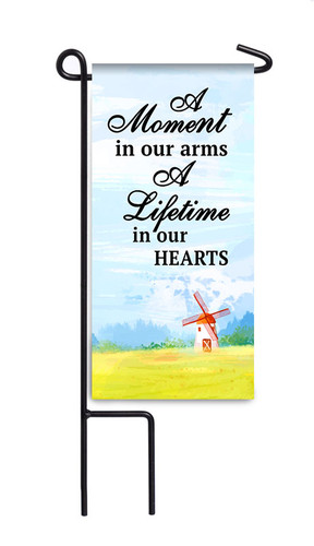 A Moment In Our Arms Mini Memorial Flag With Stand