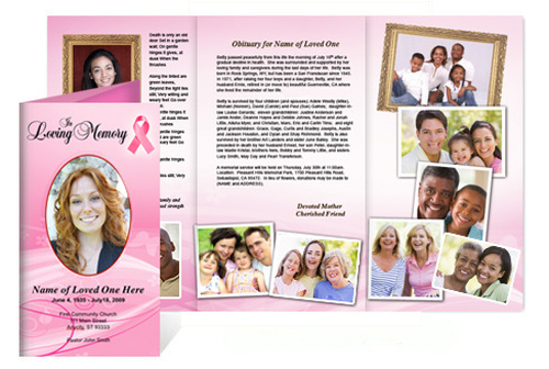 Awareness Tri Fold Funeral Brochure Template