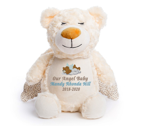 Guardian Angel Bear Memorial Stuffed Animal/Urn