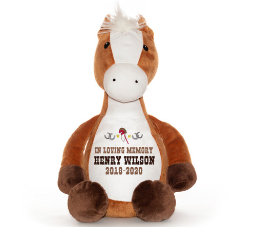 Pony Horse Memorial Stuffed Animal/Urn