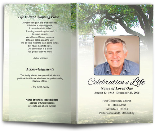 Oakridge Funeral Program Template