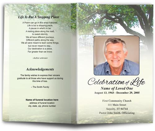 Oakridge Funeral Program Template