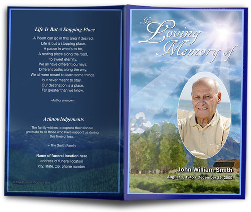 Outdoor Funeral Program Template