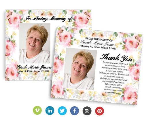 Alyssa Social Media Funeral Announcement Templates - Google Docs