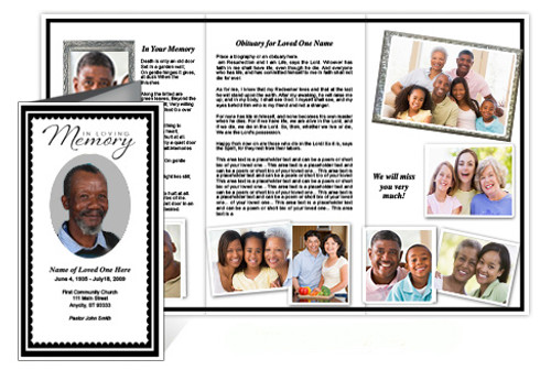 Gallant Trifold Funeral Brochure Template