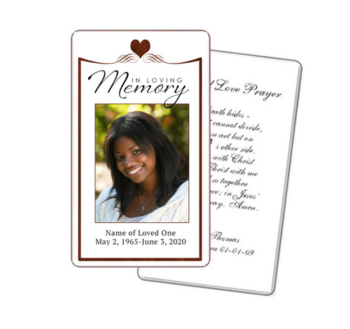 Cherish Red Prayer Card Template