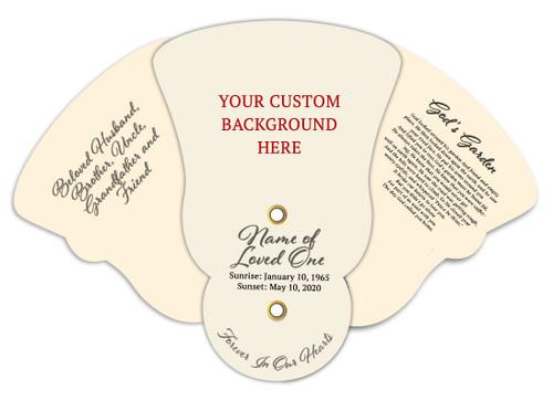 Custom Folding Hand Held Fan Your Background