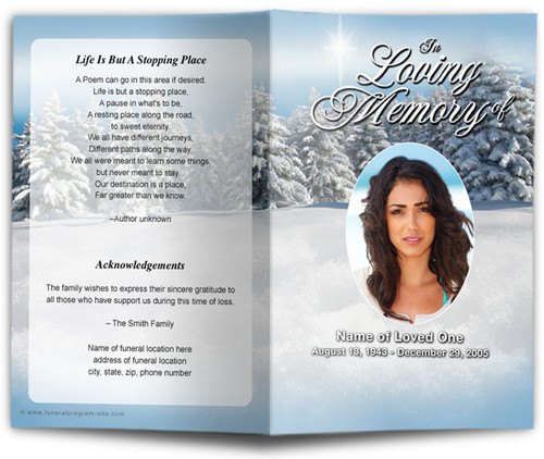 Powder Funeral Program Template