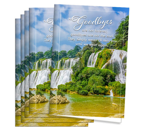 Funeral Program Paper - Goodbyes Are Not Forever