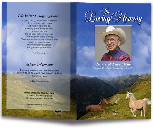 Prairie Funeral Program Template