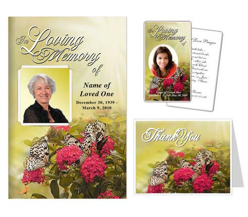 funeral templates - Bouquet Design