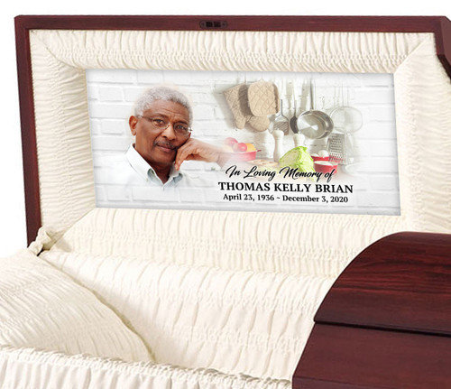 Home Cook Personalized Casket Panel Insert