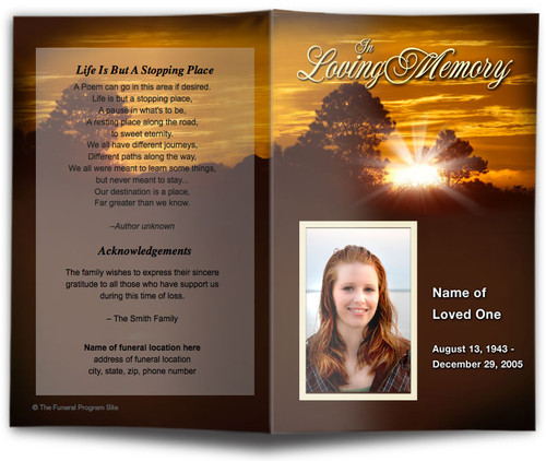Renewal Funeral Program Template