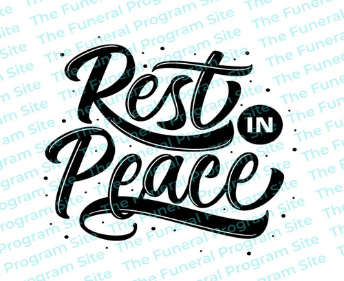 Rest In Peace 2 Funeral Program Title