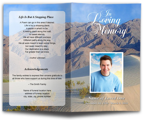 Sandy Funeral Program Template