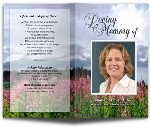 Seasons Funeral Program Template