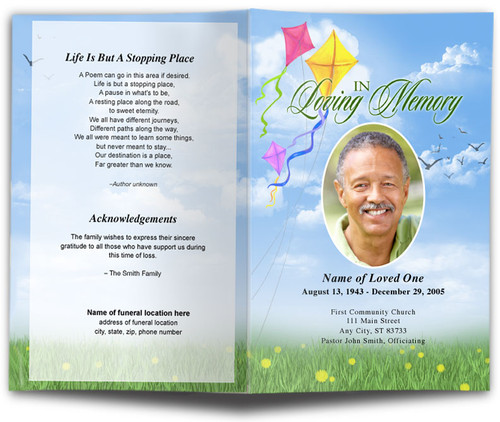Summer Funeral Program Template