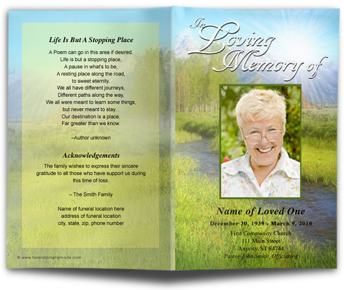 Tranquil Funeral Program Template