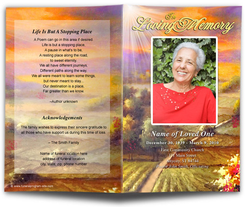 Valley Funeral Program Template