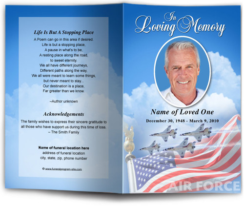 Air Force Funeral Program Template