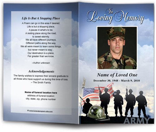 Army Funeral Program Template