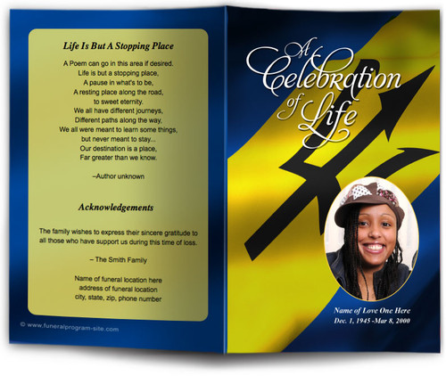 Barbados Funeral Program Template