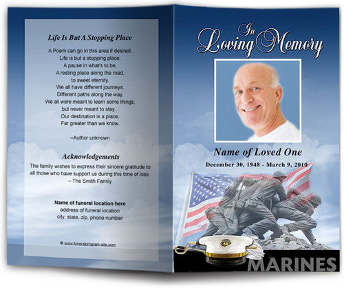 Marines Funeral Program Template