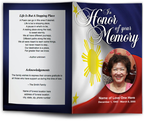 Philippines Funeral Program Template