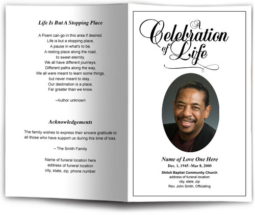 Classic Funeral Program Template