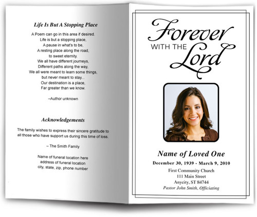Forever Funeral Program Template