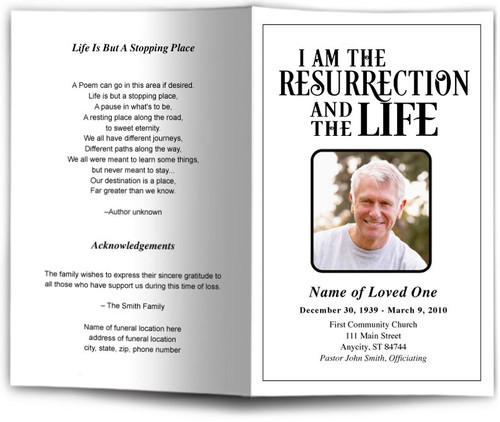 Life Funeral Program Template