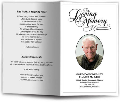 Simple Design Funeral Program Template