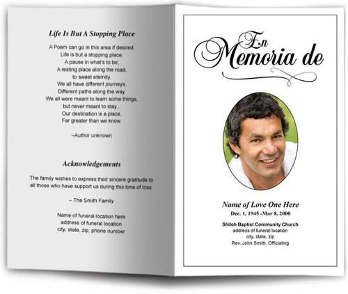 Memoria Funeral Program Template