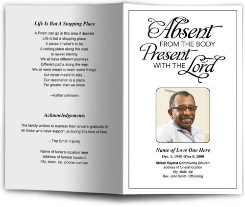 Present Funeral Program Template