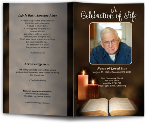 Bible Funeral Program Template