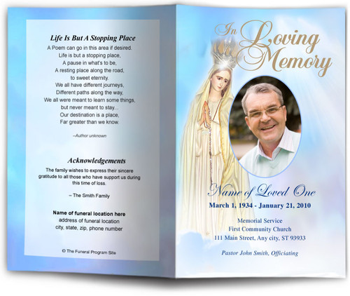Blessed Funeral Program Template