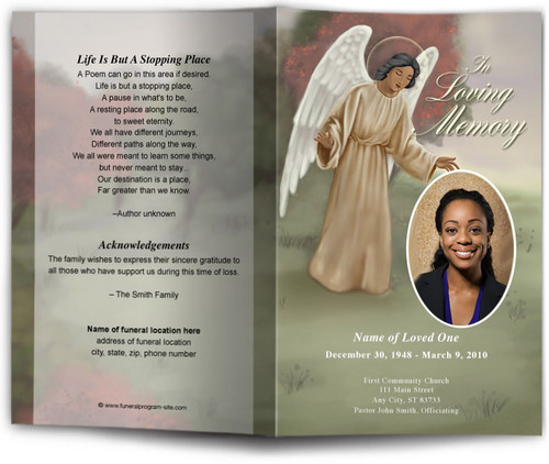 Delilah Funeral Program Template dark skin