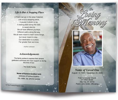 Eternal Funeral Program Template