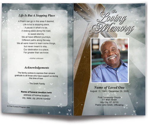 Eternal Funeral Program Template