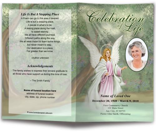 Faith Funeral Program Template light skin